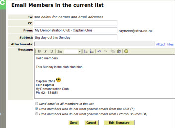 Club2ic email editor